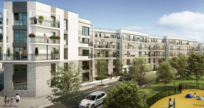 Achat / Vente immobilier neuf Bois-Colombes au coeur de l'écoquartier Pompidou Le Mignon (92270) - Réf. 5592