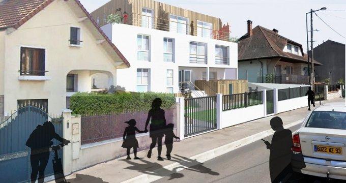 Achat / Vente immobilier neuf Les Pavillons-sous-Bois proche tramway 4 (93320) - Réf. 4925