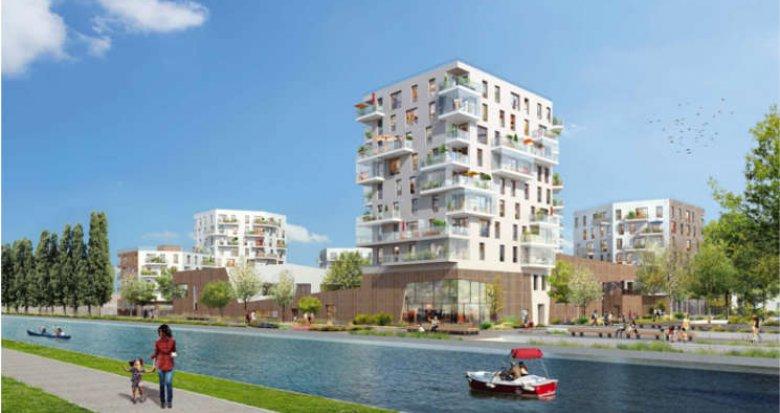 Achat / Vente immobilier neuf Bobigny au bord du canal de l'Ourcq (93000) - Réf. 559